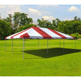 20' x 30' West Coast Frame Party Tent - Red and White