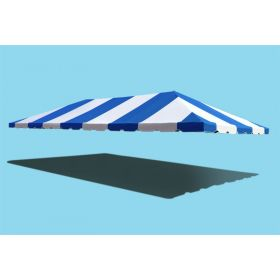 20' x 40' West Coast Frame Party Tent Top - Blue and White