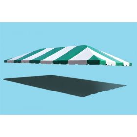 20' x 40' West Coast Frame Party Tent Top - Green and White