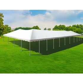40' x 100' Single Tube West Coast Frame Party Tent - Sectional Top