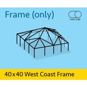 40' x 40' West Coast Frame Tent - Twin Tube Frame Only