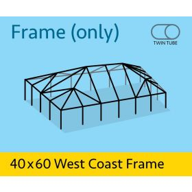 40' x 60' West Coast Frame Tent - Twin Tube Frame Only