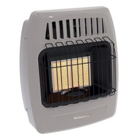 12k Btu 2 Plaque Natural Gas Infrared Vent Free Wall Heater