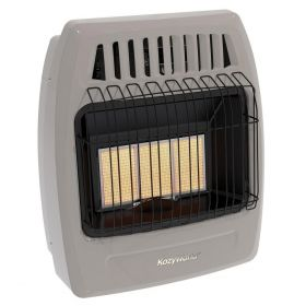 18K Btu 3 Plaque Natural Gas Infrared Vent Free Wall Heater