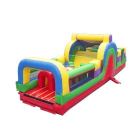 USED 30' Retro Inflatable Obstacle Course with Blower