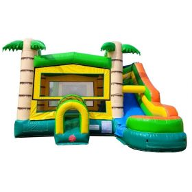 Modular Tropical Water Slide Bounce House Combo with Blower