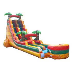 22' Tall Fire Marble Tropical Wet / Dry Inflatable Slide with Blower