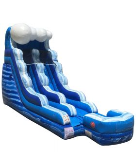 15' Tidal Wave Marble Inflatable Water Slide with Blower