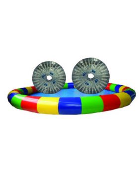 Round Shallow Pool with 2 TPU Zorb Balls and Blower