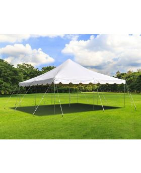 20' x 20' Weekender Standard Canopy Pole Tent - White