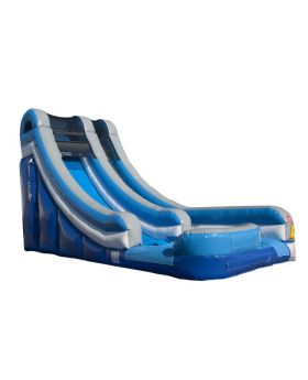 18' Blue Inflatable Water Slide with Blower