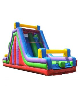 40' Retro Inflatable Rock Climb Slide with Blower