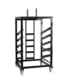 "Heavy Duty Steel Moving Cart for 30"" Bistro / Cocktail Tables"