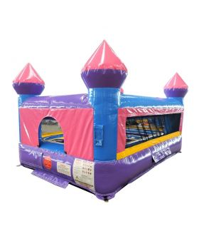 Junior Pink Castle Indoor Bounce House with Blower