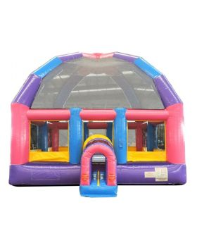 Pink Bubba 22' x 22' Giant Bounce House with Blower
