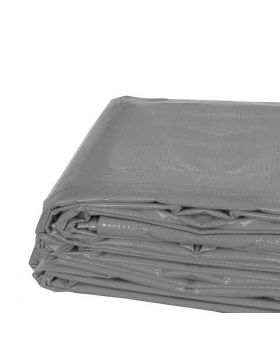 10' x 12' Heavy Duty Waterproof PVC Vinyl Tarp - Gray