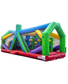 30' Retro Radical Run Extreme Unit #1 Inflatable Obstacle Course with Blower
