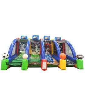 4-in-1 Inflatable Interactive Sports Game with Blower