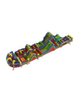 193' Retro MAMMOTH 6-Piece 7E Obstacle Course Dual Climb
