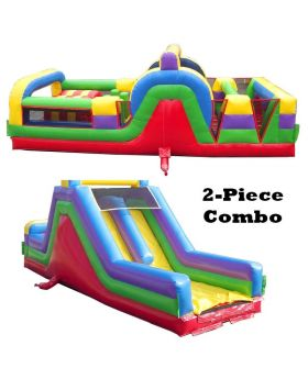 60' Retro SUPER 2-Piece Obstacle Course