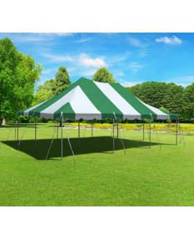 20' x 30' Premium Canopy Pole Party Tent - Green and White