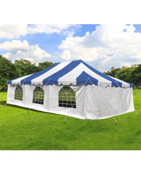 20' x 30' Weekender Standard Pole Tent with Sidewalls - Blue