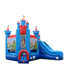 Deluxe Brave Knight Bounce House and Slide Combo with Blower