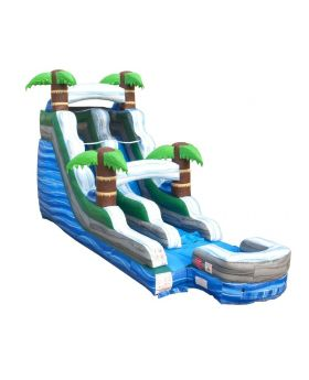 15' Tropical Marble Inflatable Water Slide with Blower