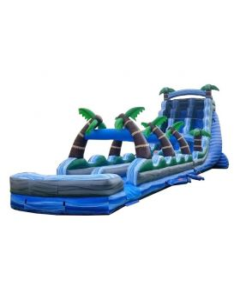 22' Tropical Marble Dual Lane Inflatable Waterslide & Slip n Slide Combo with Blower