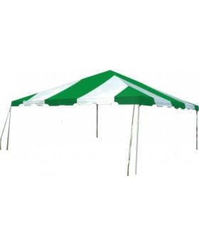 15' x 15' West Coast Frame Party Tent - Green and White
