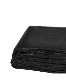 9' x 12' Heavy Duty Waterproof PVC Vinyl Tarp - Black