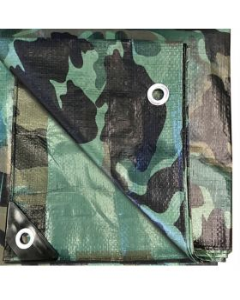 6' x 8' Multi-Purpose Water Resistant Camo Poly Tarp Cover