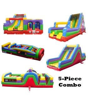 159' Retro BEAST Radical 5-Piece Obstacle Course