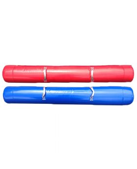 Blue and Red Foam Filled Joust Poles - Two Pack