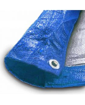 12' x 20' Blue & Silver Multi-Purpose Water Resistant Poly Tarp Cover
