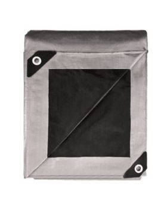 Silver & Black Tarp 10 x 12