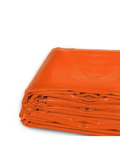 16' x 20' Heavy Duty Waterproof PVC Vinyl Tarp - Orange