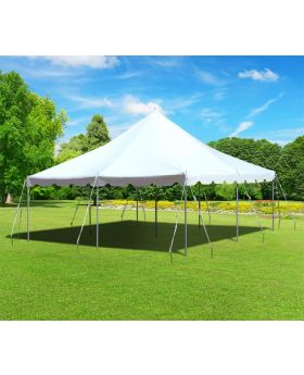 20 x 20 Premium Canopy Pole Party Tent - White