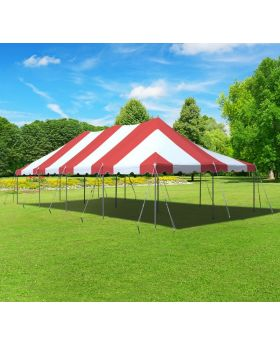 20' x 40' Premium Canopy Pole Party Tent - Red and White