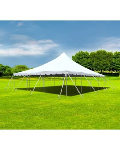 30' x 40' Premium Pole Party Tent - White