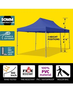 10' x 20' 50mm Speedy Pop-up Party Tent - Blue