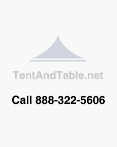 55' Star Teepee Tent - Red & White Single Pole