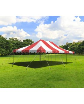 20' x 30' Weekender Standard Canopy Pole Tent - Red