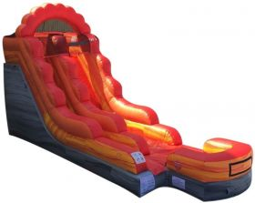 15' Fire Marble Inflatable Water Slide with Blower