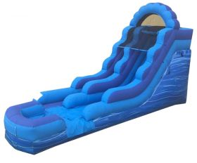 15' Blue Marble Inflatable Water Slide with Blower