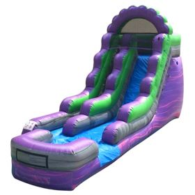 15' Purple Marble Inflatable Water Slide with Blower