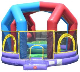USED Retro Inflatable Wrecking Ball Game with Blower and Accessories