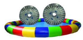 24' Round Inflatable Pool with 2 TPU Zorb Balls and Blower