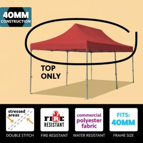 10' x 20' Oxford 40mm Speedy Tent Top - Red