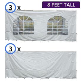 USED 20' x 40' High Peak Frame Sidewall Kit with 8' Walls, Velcro, & Clip Connections